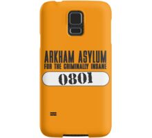 Asylum Inmate #0801 aka Joker's uniform Samsung Galaxy Case/Skin
