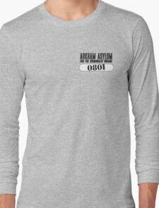 Asylum Inmate #0801 aka Joker's uniform Long Sleeve T-Shirt