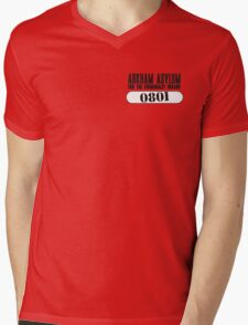 Asylum Inmate #0801 aka Joker's uniform Mens V-Neck T-Shirt