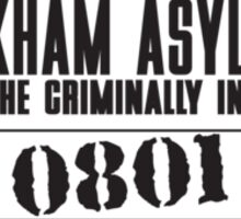 Asylum Inmate #0801 aka Joker's uniform Sticker