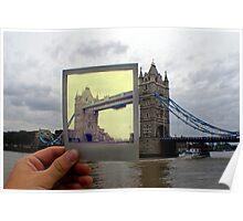 Polaroid London Bridge  Poster