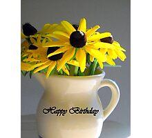 Happy Birthday Flowers Photographic Print