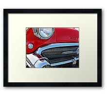 1957 Buick Century in Red Framed Print