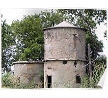old grain silo in texas Poster