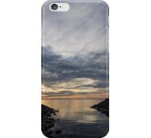 Waterscape In Gray And Yellow iPhone Case/Skin