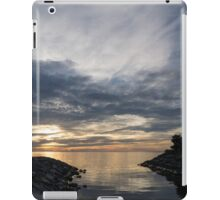 Waterscape In Gray And Yellow iPad Case/Skin