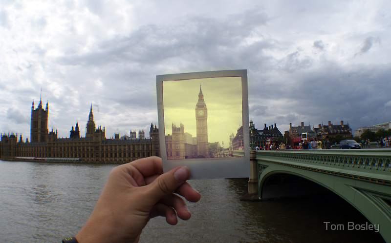 Polaroid Big Ben by Tom Bosley