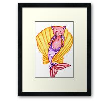 Red and Purple MerCat Framed Print