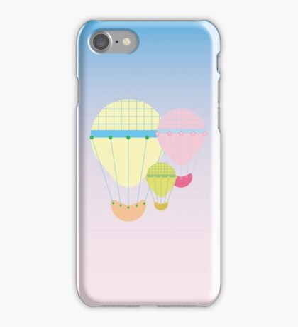 Pastel Hot Air Balloons iPhone Case/Skin