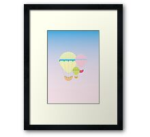 Pastel Hot Air Balloons Framed Print