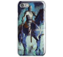 Blue Knight by Sarah Kirk iPhone Case/Skin