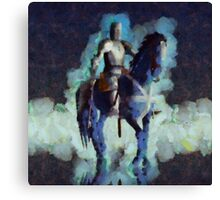 Blue Knight by Sarah Kirk Canvas Print