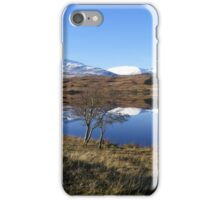 Reflections on Loch Tulla - tree iPhone Case/Skin