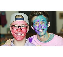 Tyler Oakley and Troye Sivan Paint Photographic Print