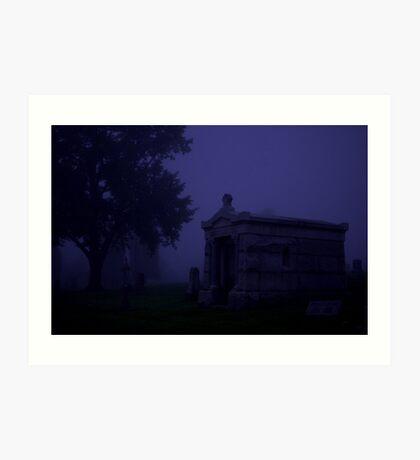 cemetery fog Art Print