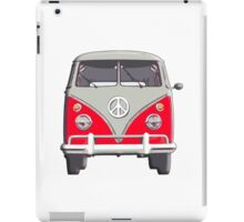 Volkswagen Van, RED, Camper, Split screen, 1966 Volkswagen, Kombi (North America) iPad Case/Skin