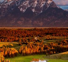 Triangle X Ranch Sunrise in Grand Teton National Park by cavaroc