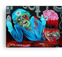 Zombie Brain Surgeon Canvas Print