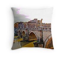 Ponte San Angelo, Rome, Italy Throw Pillow
