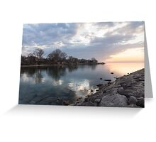 Limpid - Crystal Clear Peaceful Waterfront Sunrise Greeting Card