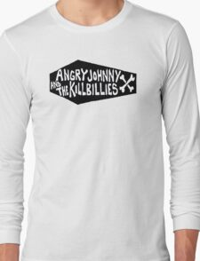 Angry Johnny And The Killbillies-Coffin Logo Long Sleeve T-Shirt