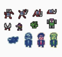 Indies VS Gamers 2084 - STICKER MEGA PACK 1 by Feliks Balzer