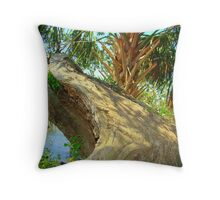 Split Oak Tree Throw Pillow