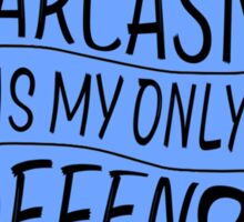 teen wolf - sarcasm is my only defence Sticker