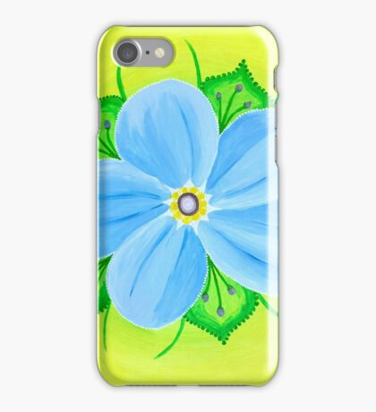 Forget-me-not Flower Mandala iPhone Case/Skin