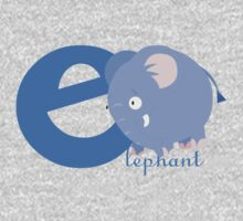 e for elephant One Piece - Long Sleeve