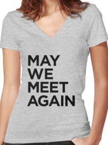 May We Meet Again (The 100) Women's Fitted V-Neck T-Shirt