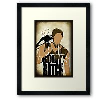 Daryl - I Ain't Nobody's Bitch - The Walking Dead Framed Print