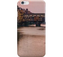 Impressions Of Florence - Ponte Vecchio Rowing In Pink iPhone Case/Skin