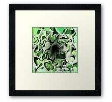 ( BIANCA GREEN  EYES  )  ERIC WHITEMAN ART   Framed Print