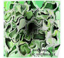 ( BIANCA GREEN  EYES  )  ERIC WHITEMAN ART   Poster
