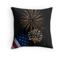 Happy Fourth of July Throw Pillow