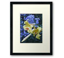 Lilies and Campanula Framed Print