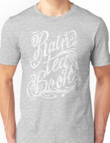 Rain, Tea, Books - white lettering only- Unisex T-Shirt