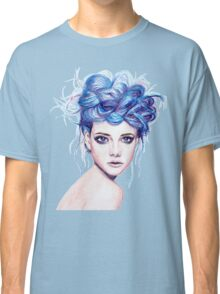 Blue Haired Girl Classic T-Shirt