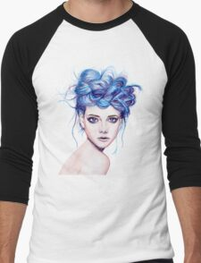 Blue Haired Girl Men's Baseball ¾ T-Shirt