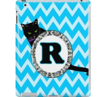 R Cat Chevron Monogram iPad Case/Skin