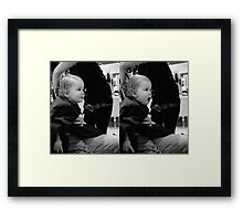 Haircut Suprise Framed Print