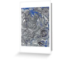Black & Blue Mirror Greeting Card