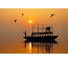 The Holy Ganga at Varanasi Photographic Print