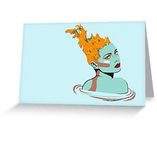 Flame headed girl Greeting Card