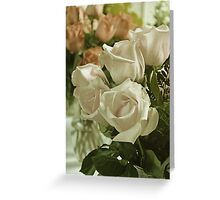 Vintage white roses Greeting Card