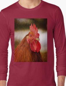 Rooster/Cockerel Portrait Long Sleeve T-Shirt