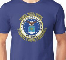 US Air Force Retired VVV Shield Unisex T-Shirt