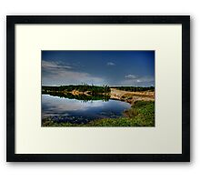 PERCY LAKE-HDR Framed Print