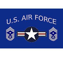 USAF Chief Master Sergeant 1st Photographic Print